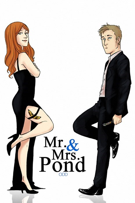 rory williams crossover movies Fan Art doctor who amy pond mr and mrs smith - 7806831104