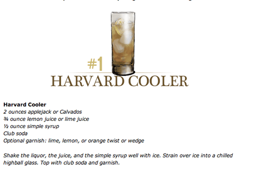 cocktails Ivy League funny harvard