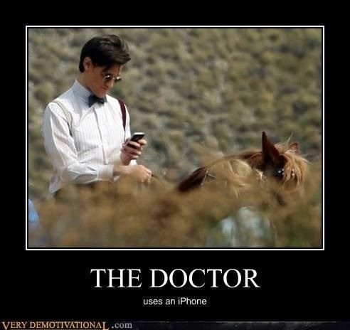 very demotivational,doctor who,iphone