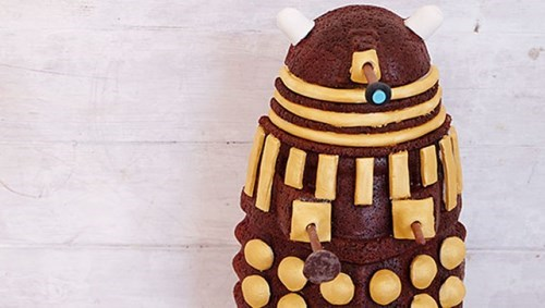 Learn to Make This Amazing Red Velvet Dalek Cake