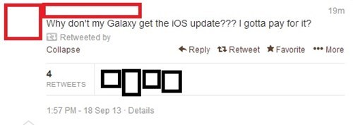 phones android smartphones ios confused Samsung apple ios 7 failbook g rated
