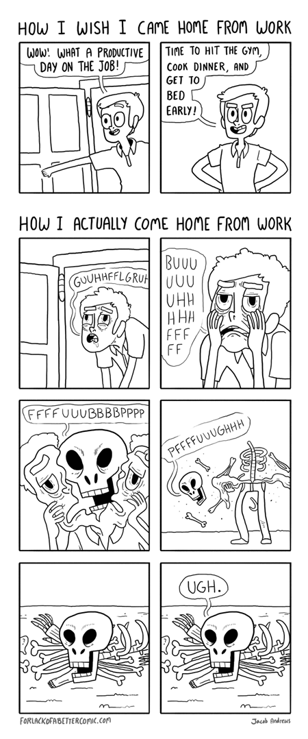 web comics work skeletons funny