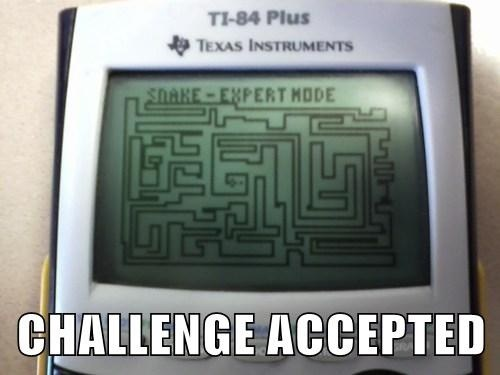 Challenge Accepted calculator snake - 7807465216