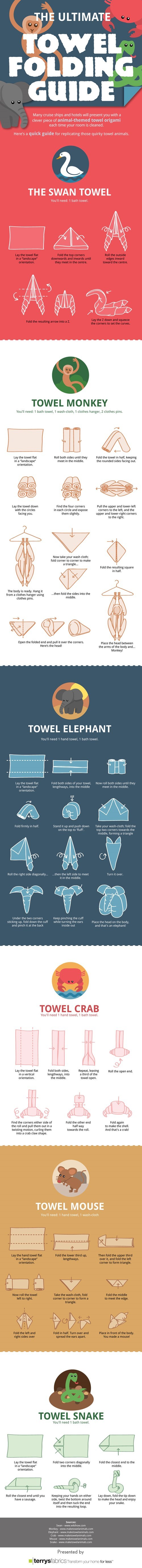 towel folding,towel,origami,skill,animals