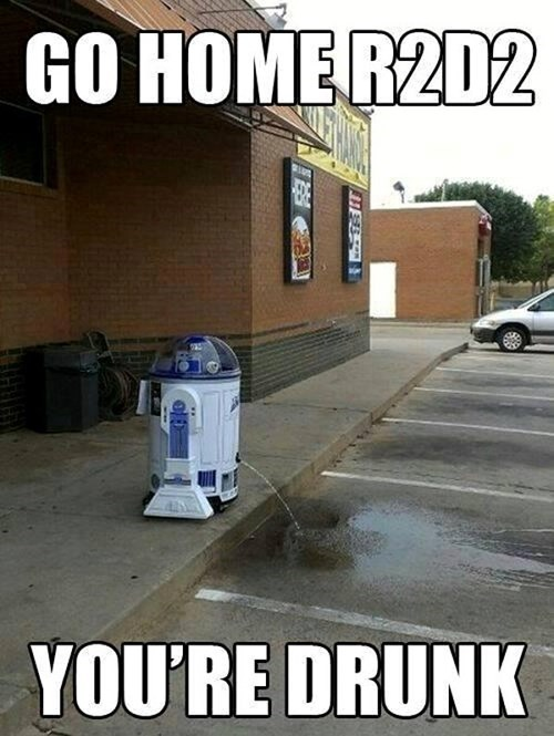 r2d2,star wars,drunk
