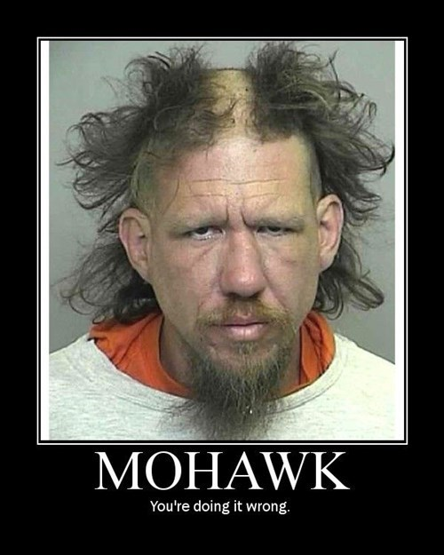 hair wtf doing it wrong mohawk funny - 7809230336