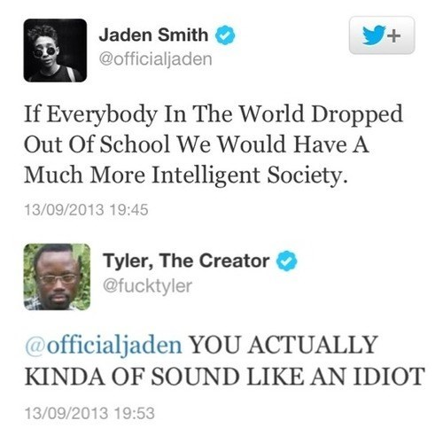 school jaden smith dropouts Tyler The Creator failbook - 7809505792