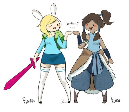 Avatar,legend of korra,fiona,adventure time