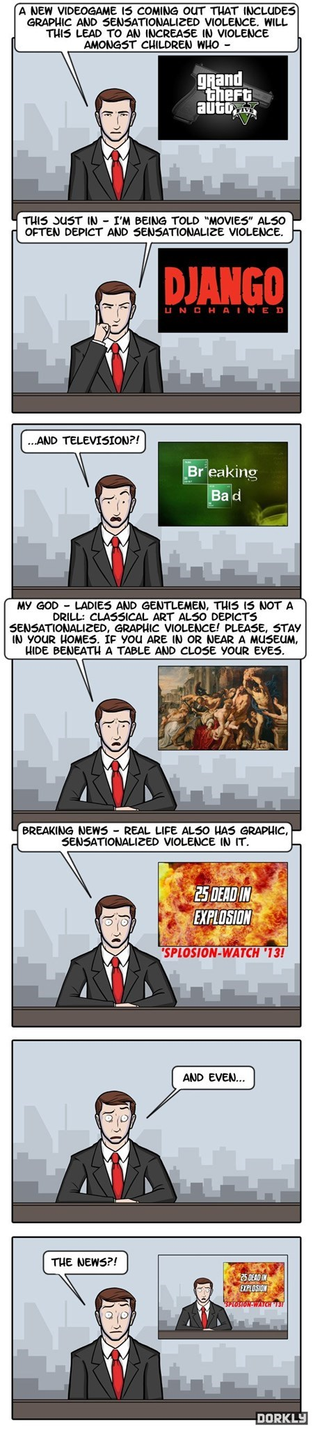 news Videogames violences funny web comics