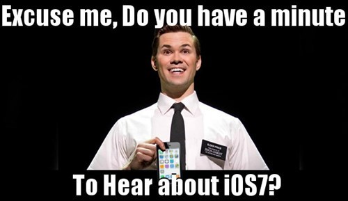 ios7,iPhones,book of mormon,apple