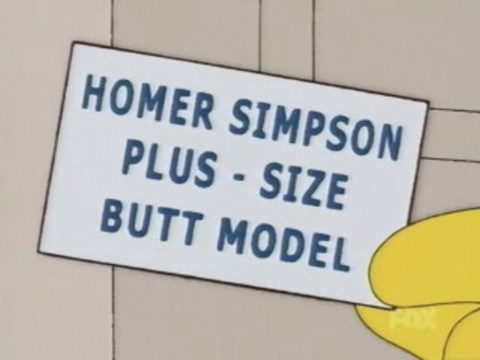 butts cartoons the simpsons - 7809814272