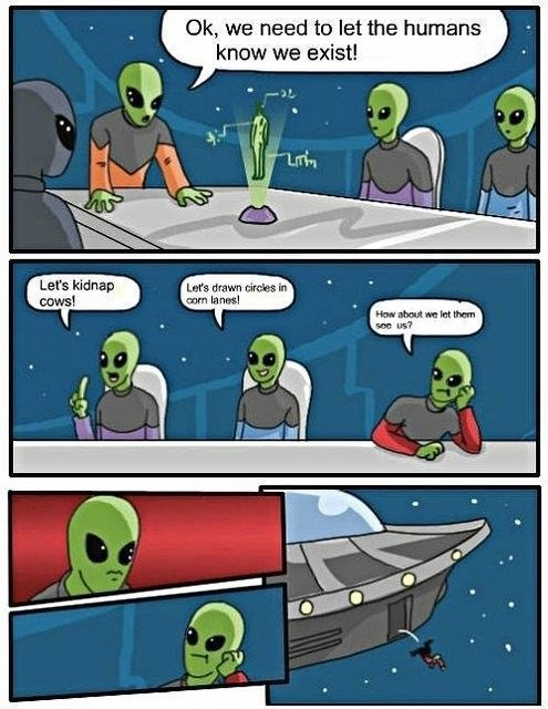 Aliens conspiracy logic funny - 7809891584