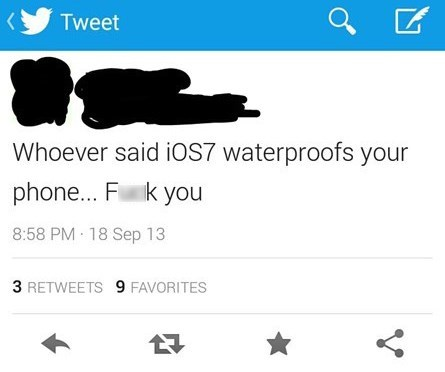 ios7 tweeting software waterproof - 7809941760