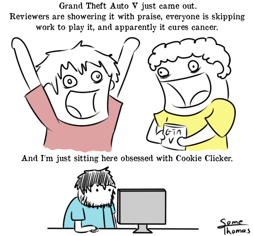 cookie clicker,grand theft auto v,web comics