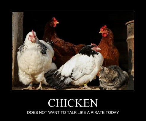 CHICKEN DOES NOT WANT TO TALK LIKE A PIRATE TODAY