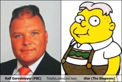 Ralf Gervelmeyer (PBC) Totally Looks Like Uter (The Simpsons)