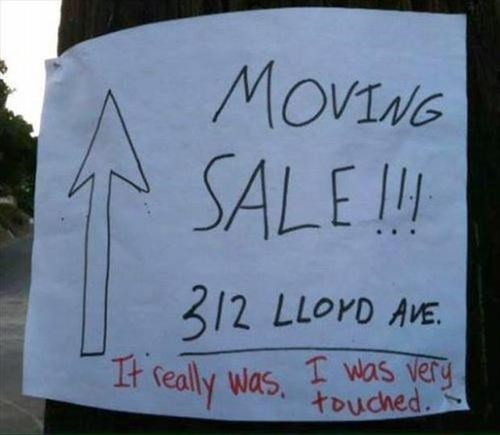 sale moving paper signs - 7812730368