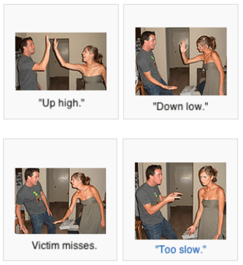 too slow,high five,wikipedia