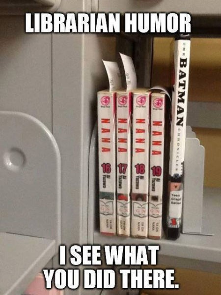 I see what you did there batman librarian monday thru friday g rated