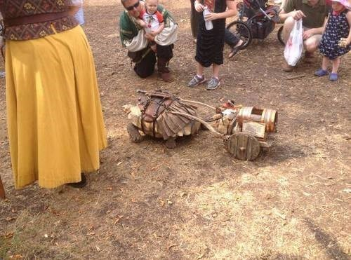 That's a Turtle With a Knife in a Kilt at a Renaissance Fair. You're Welcome.