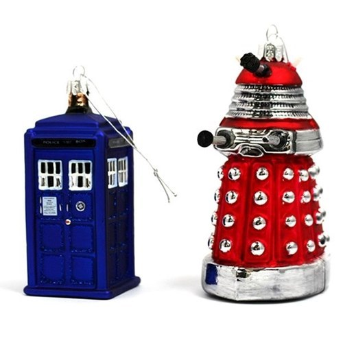 christmas,dalek,Christmas ornaments,tardis,nerdgasm,doctor who,funny,g rated,win