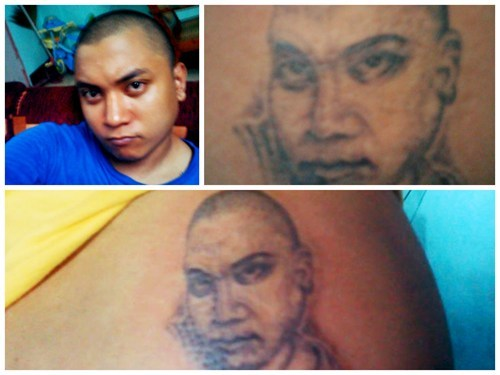 bad portraits tattoos funny - 7813190656