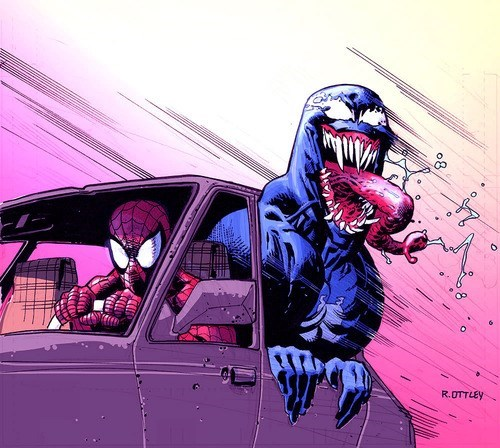 car,Spider-Man,Venom
