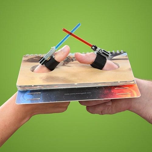 thumb wrestling star wars lightsabers - 7813339648