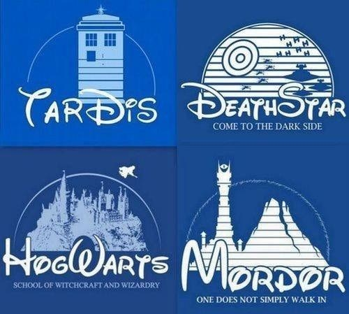 mordor,disney,tardis,Death Star,Hogwarts