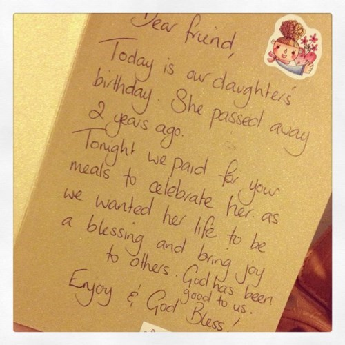 random act of kindness note restoring faith in humanity week funny - 7813455616