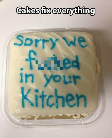cake apology sorry sexy times funny dating - 7813462016