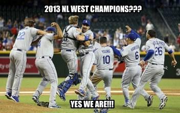 2013 NL WEST CHAMPIONS???