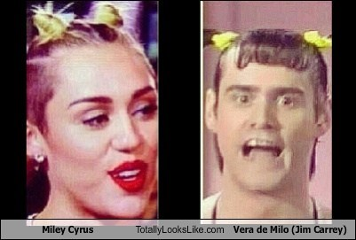 totally looks like,miley cyrus,vera da milo
