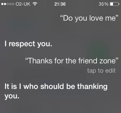 ios7,siri,friend zone