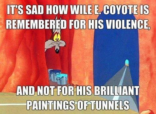 looney tunes cartoons wile e coyote - 7814767616