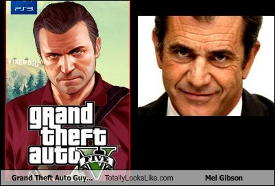 mel gibson,grand theft auto v,totally looks like,funny