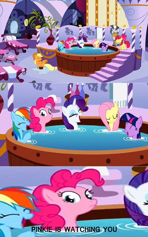 mane 6,pinkie pie,watching