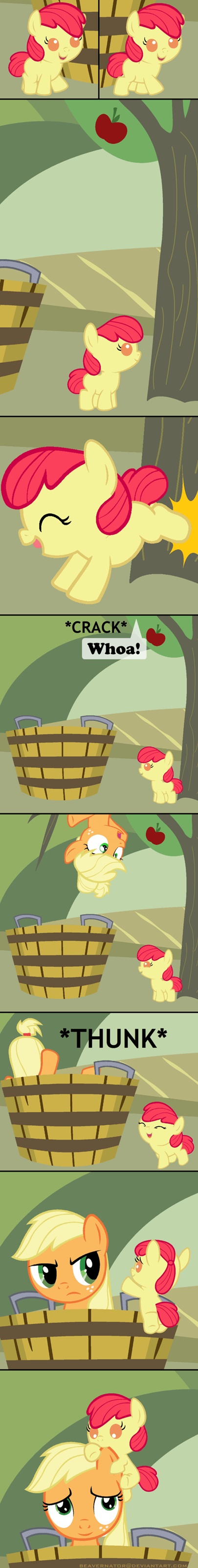 applejack apple bloom cute - 7816058368