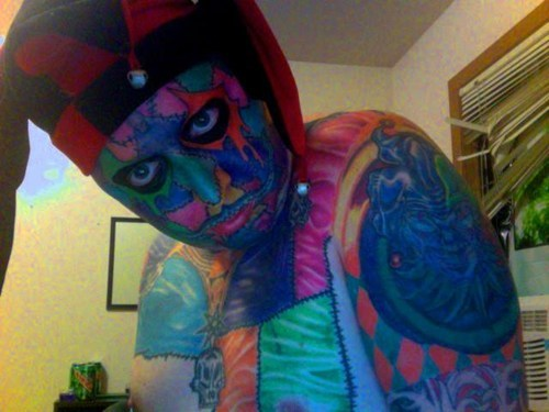 yikes clowns tattoos funny