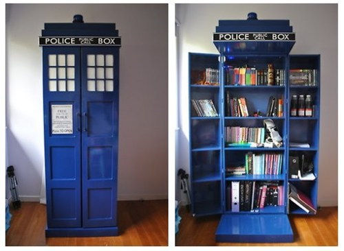 bookshelf,tardis,doctor who,DIY