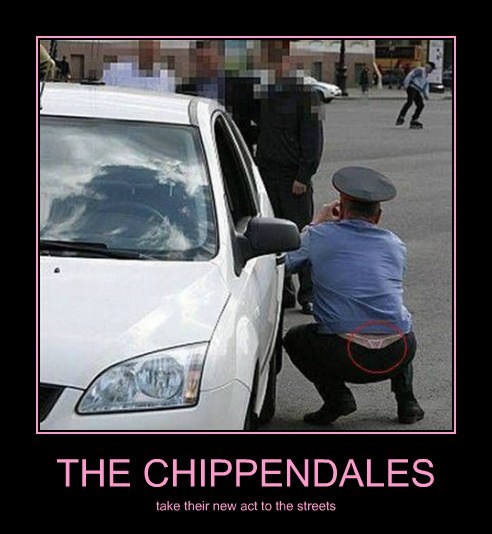 cops chippendales undies funny