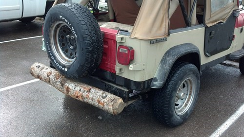 jeep,bumpers,log,cars,funny,there I fixed it