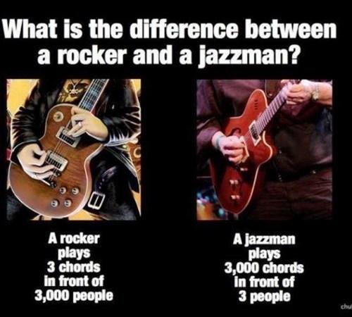jazz difference chords rocker