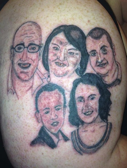 tattoos portrait family ugly funny - 7817209856