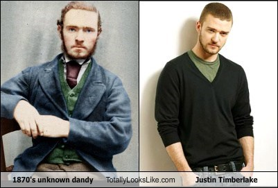 1870's unknown dandy Totally Looks Like Justin Timberlake