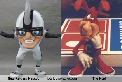 the noid,totally looks like,raiders,mascots,funny