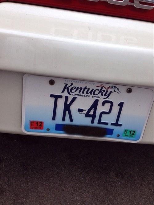 star wars tk 421 license plate - 7817665792