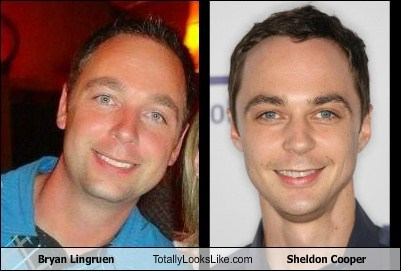 Sheldon Cooper,big bang theory,bryan lingruen,totally looks like,white people,funny