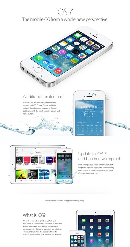 Another anonymous user comes up with the material for the waterproof iphone hoax campaign.