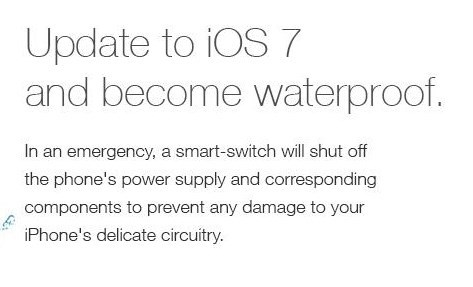 4Chan hoax that update to iOS 7 would water proof your phone, used plausible concept that everything gets shut off if the phone gets wet. Seems legit.